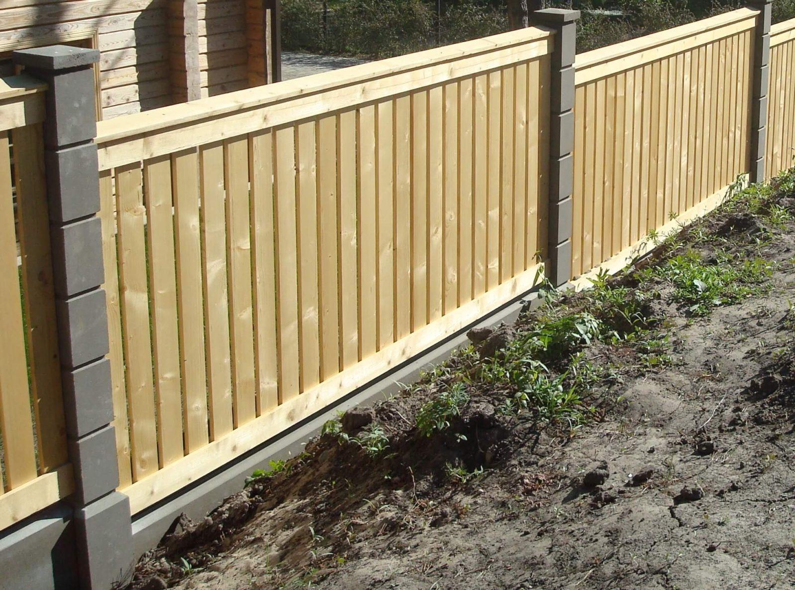Заказать забор. Забор из деревянных секций.