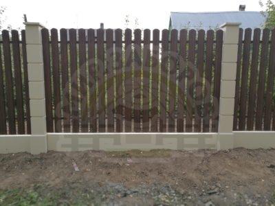 Заборная секция «Штакетник полукруглый»